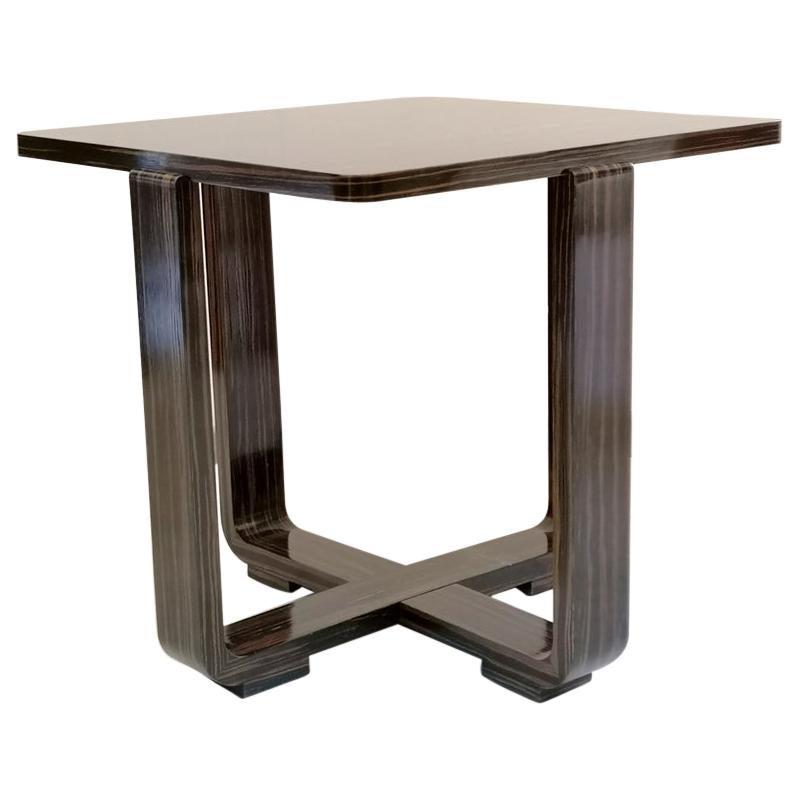 Modernist Ebony Macassar Table