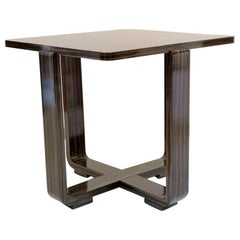 Modernist Ebony Macassar Table