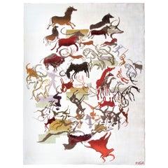 "Modernist Ecuadorian ""Caverna"" Carpet by Olga Fisch"