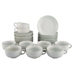 Modernist Edith Sonne White Bing and Grøndahl Tea Service for Eight People