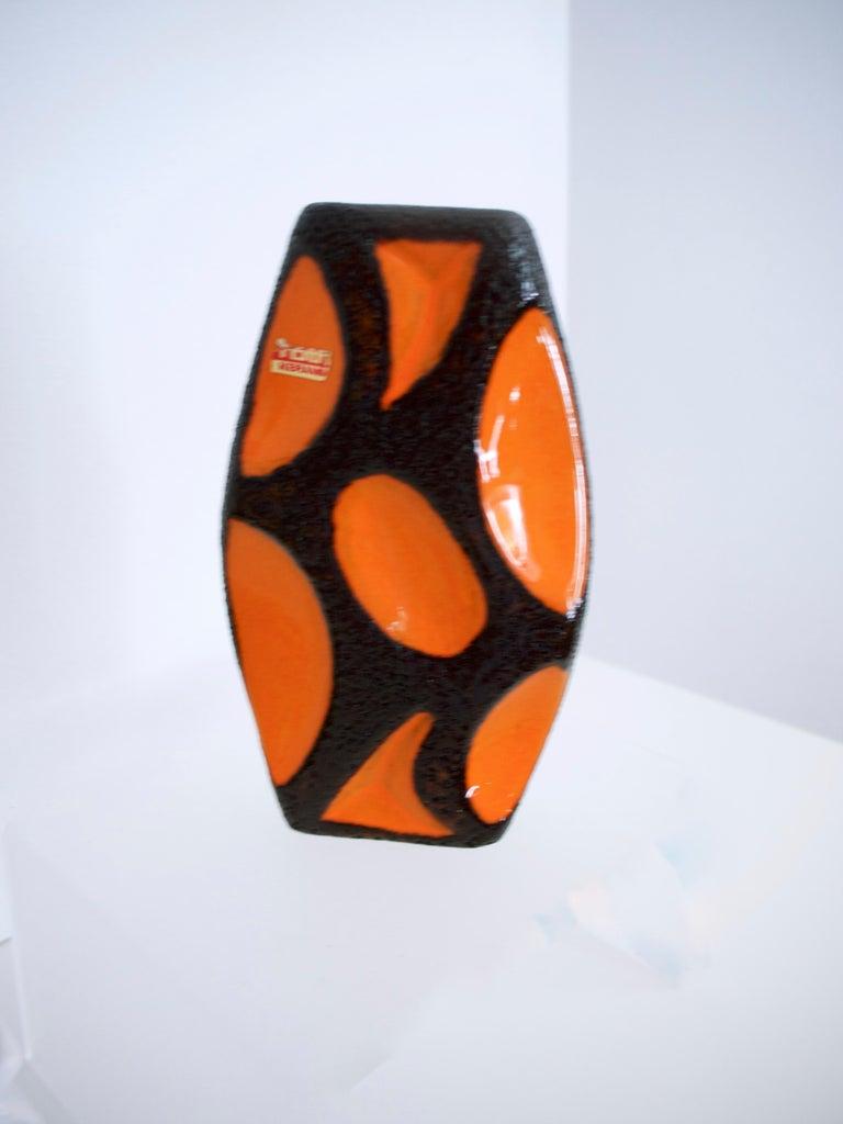 Modernist Fat Lava Ceramic Lozenge 309 Vase, 1970s Dorothea Roth For Sale 1