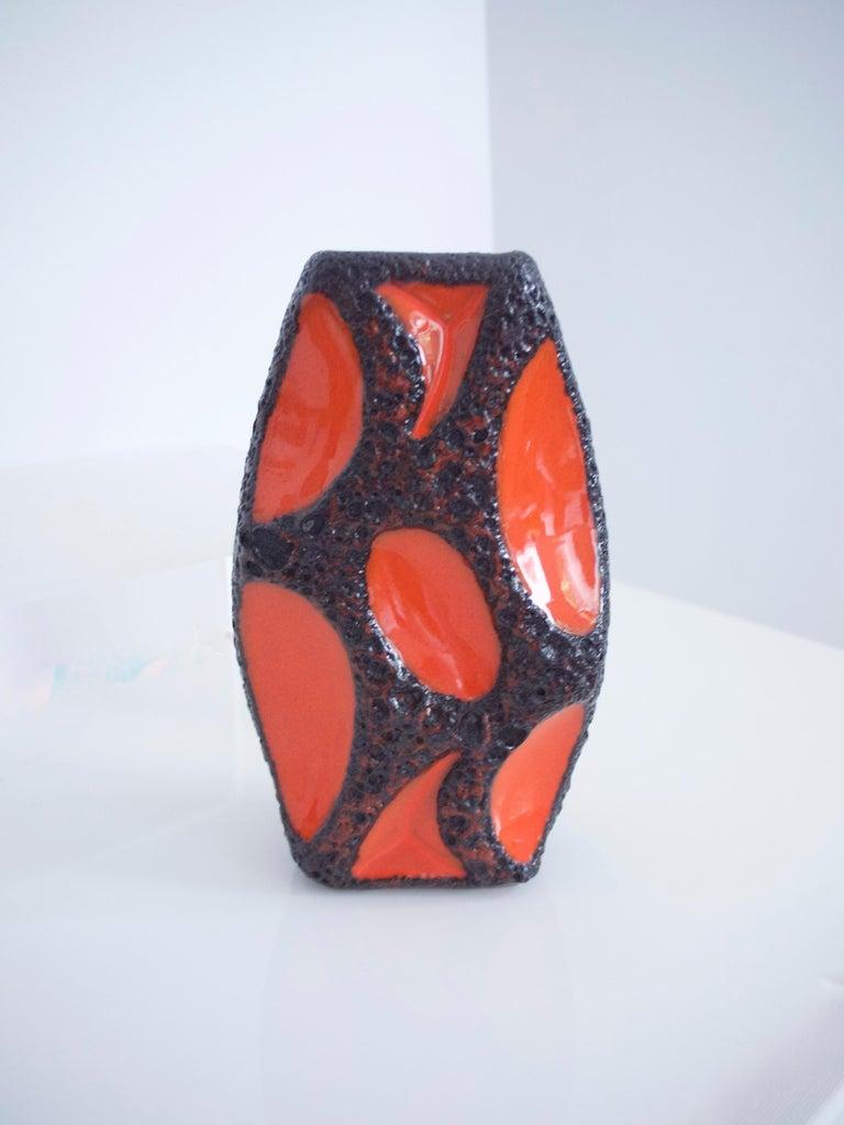 Modernist Fat Lava Ceramic Vases by Roth Banjo 313 and Lozenge 309 Vases, 1970s For Sale 5