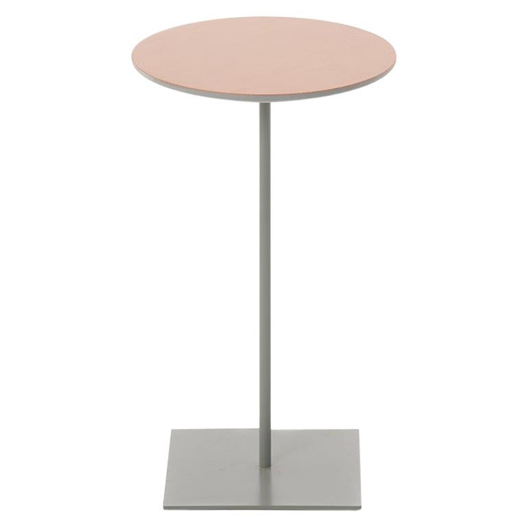 Modernist Fir Topped Cocktail Table with Grey Stem Base For Sale