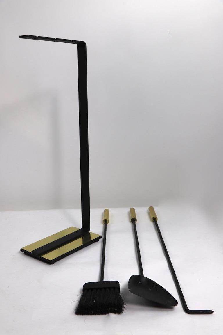 Modernist Fireplace Tool Set For Sale 5
