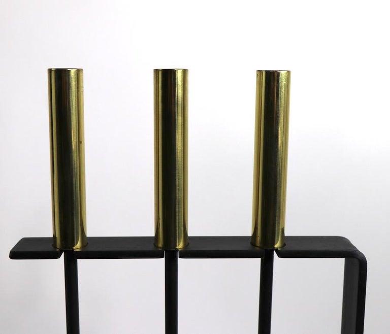 Modernist Fireplace Tool Set For Sale 1