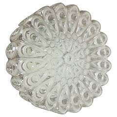 Modernist Floral Glass Wall Light Sconce Made by Hillebrand, Germany, 1970s
