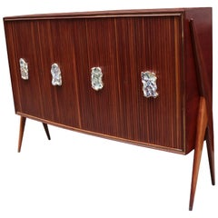Modernist Four Door Cabinet by Oswaldo Borsani