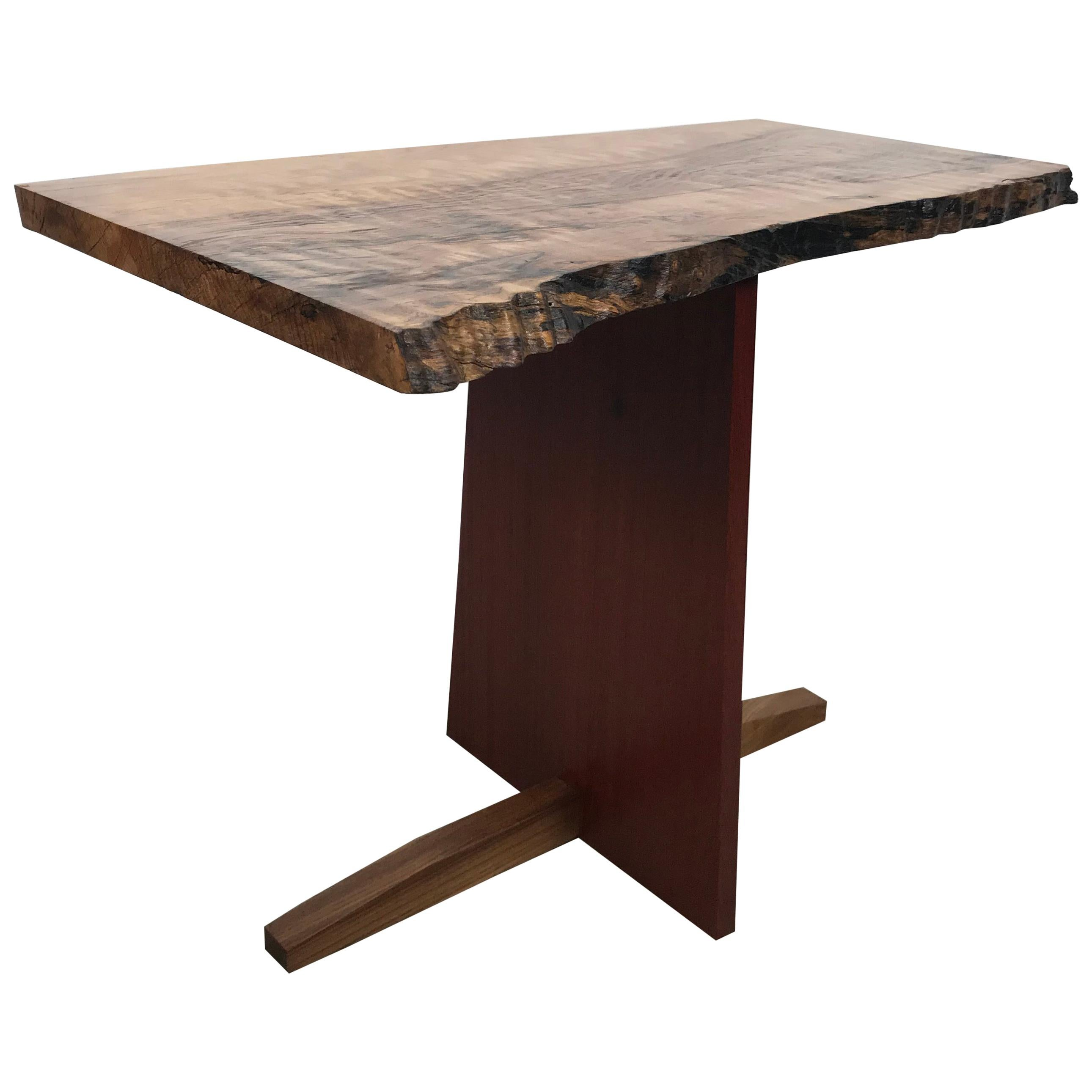 Modernist Free Edge Table in the Manner of George Nakashima by Alex Phillips