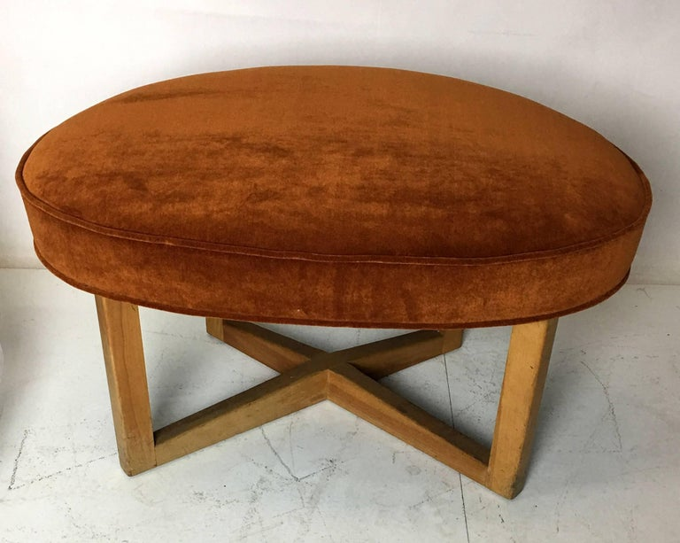 Mid-Century Modern Modernist Free-Form Stool Bench by Paul Laszlo For Sale