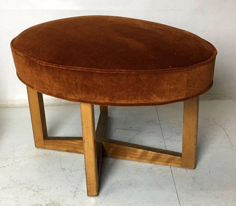 American Modernist Free-Form Stool Bench by Paul Laszlo For Sale