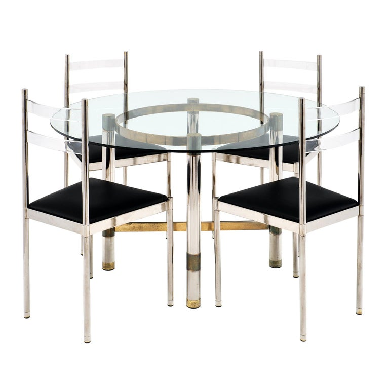 Modernist French Dining Set For Sale