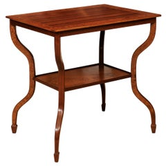 Modernist French Style Wood Side Table or End Table