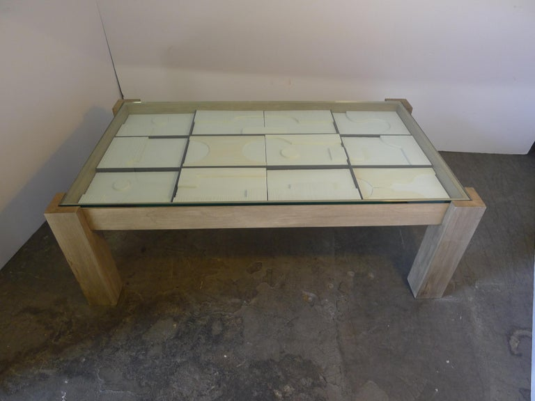 Modernist Frieze Cocktail Table by Paul Marra In New Condition For Sale In Los Angeles, CA