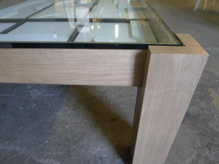 Contemporary Modernist Frieze Cocktail Table by Paul Marra For Sale