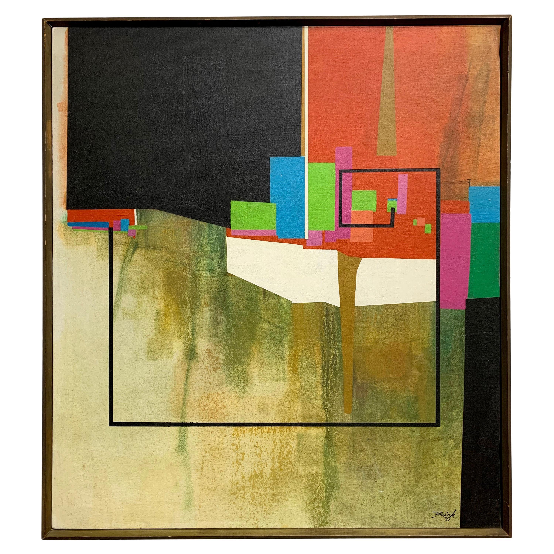 Modernist Geometric Painting, 1971