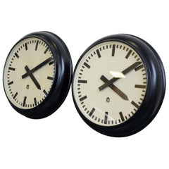 Modernist German Office Clocks, circa 1930s