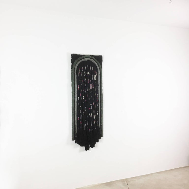 Article:  Wall rug   Decade:  1970s   Origin:  Germany   Producer:  Schloss Hackhausen, Germany   Design:  Ewald Kröner    This rug is a great example of 1970s pop art interior. Made in high quality handmade macrame weaving