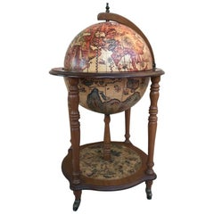 Modernist Globe Cocktail Cabinet Dry Bar Midcentury