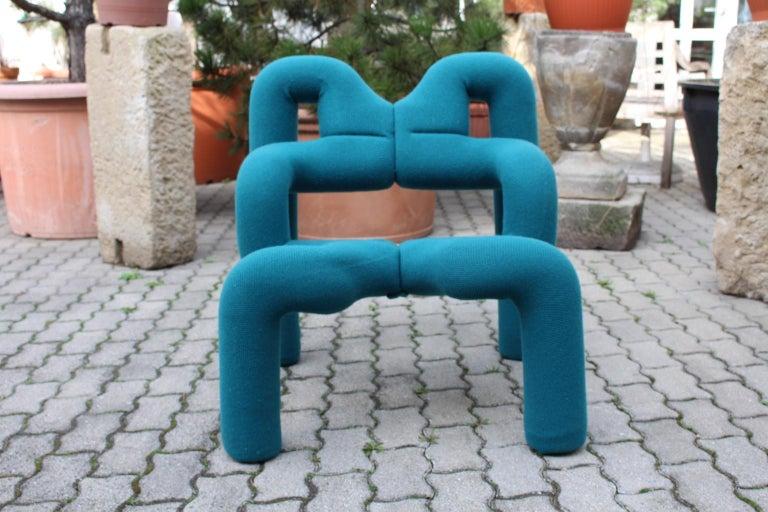 Modernist Green Vintage Armchair Ekstrem Terje Ekstrom 1972 Stokke Norway For Sale 1