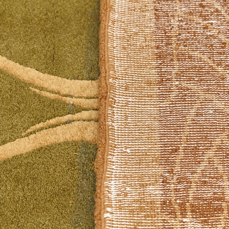 Modernist Hand Knotted Wool Large Rug, circa 1980 For Sale 8