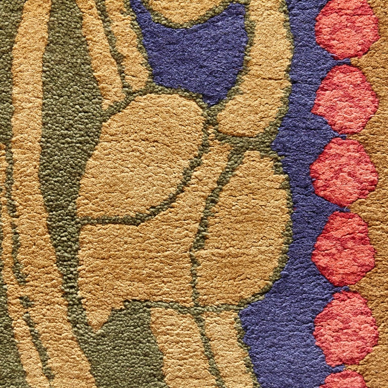 Modernist rug made in Spain in 1980