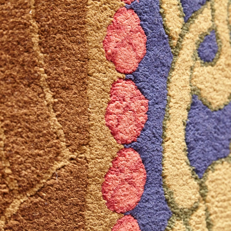 Modernist Hand Knotted Wool Large Rug, circa 1980 In Good Condition For Sale In Barcelona, Barcelona
