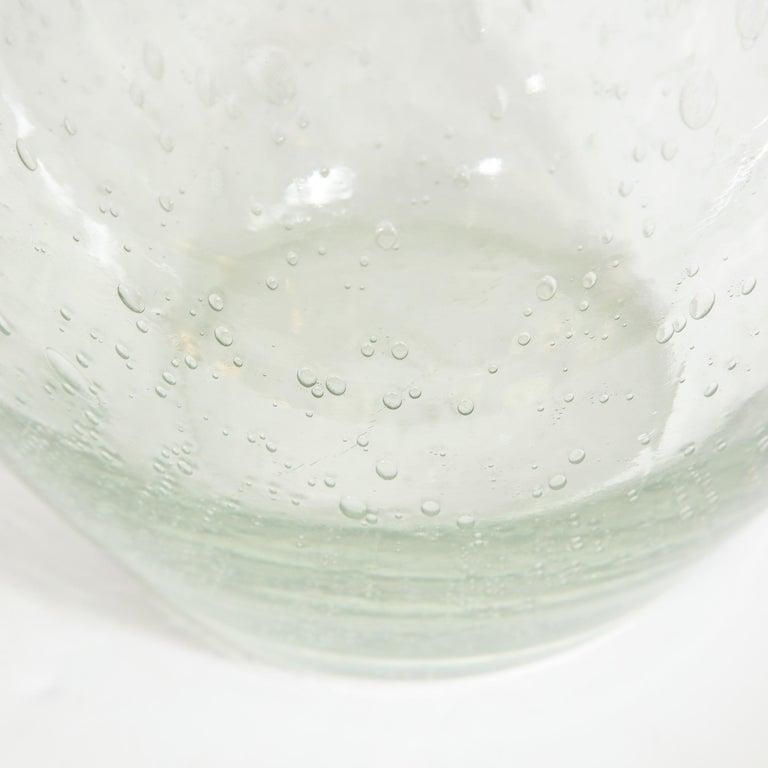 Modernist Hand Blown Murano Translucent Sea Foam Vase For Sale 4