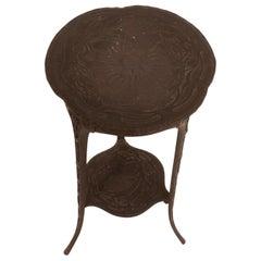 Modernist Iron Side Table, Black, 1900s