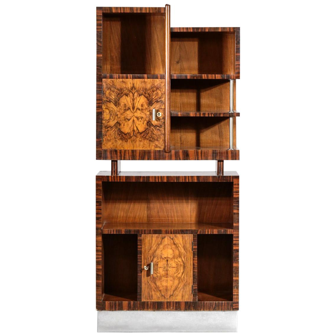 Modernist Italian Bar Cabinet Gio Ponti Style Bookcases