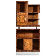 Modernist Italian Bar Cabinet Gio Ponti Style Bookcases