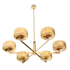 Modernist Italian Chandelier by Sciolari, Pair Available