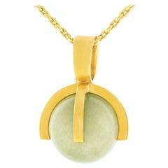 Modernist Jade Pendant