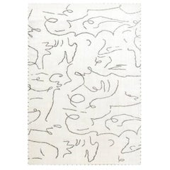 Modernist Jean Cocteau Style Rug