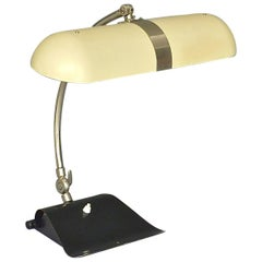 Modernist Kaiser Table Desk Lamp Christian Dell Bauhaus Germany 1930 Black Ivory