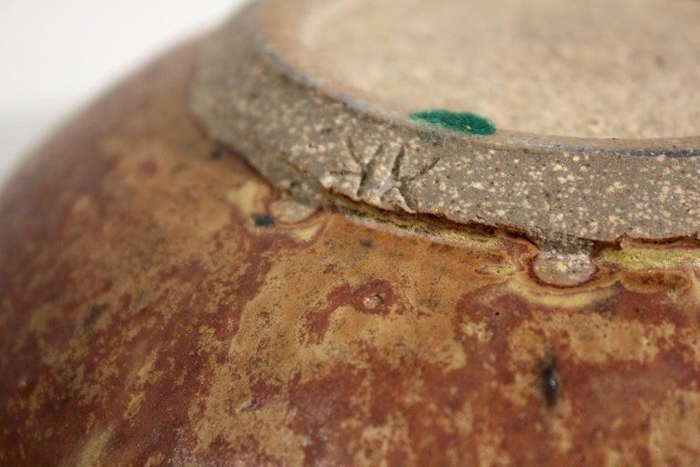 Modernist Karen Karnes Objects U.S.A. Studio Art Pottery Stoneware Bowl For Sale 6