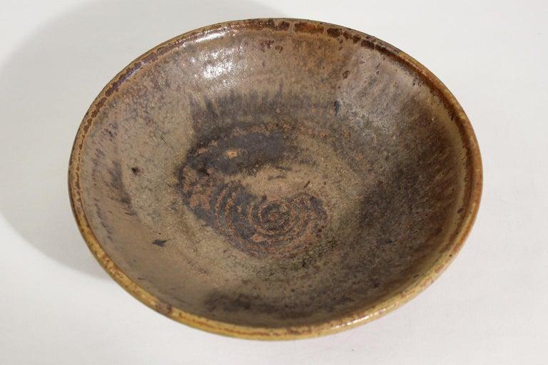 20th Century Modernist Karen Karnes Objects U.S.A. Studio Art Pottery Stoneware Bowl For Sale