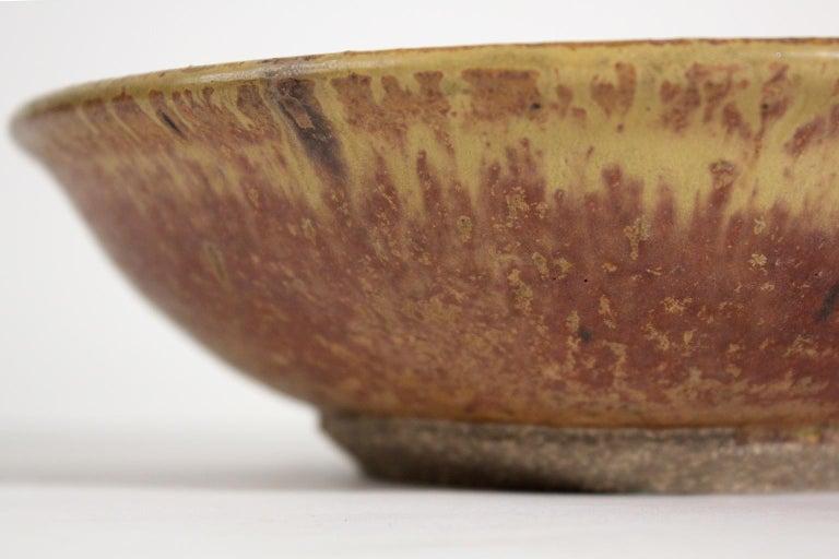 Modernist Karen Karnes Objects U.S.A. Studio Art Pottery Stoneware Bowl For Sale 1