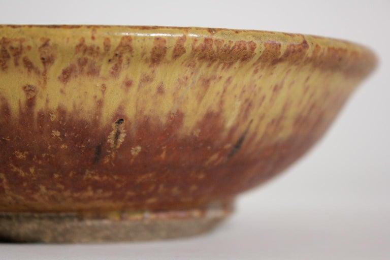 Modernist Karen Karnes Objects U.S.A. Studio Art Pottery Stoneware Bowl For Sale 2