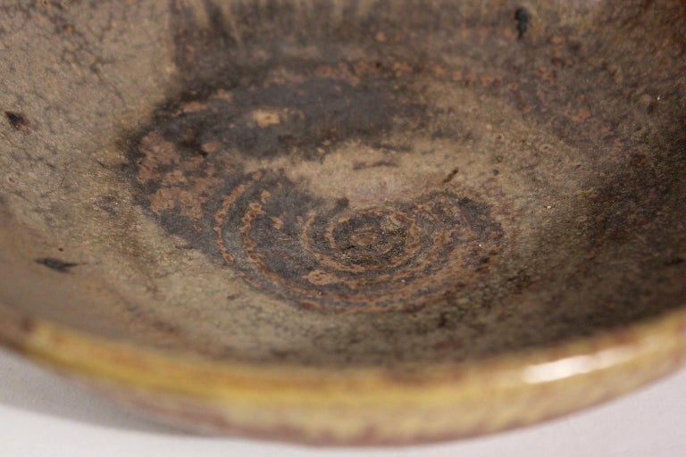 Modernist Karen Karnes Objects U.S.A. Studio Art Pottery Stoneware Bowl For Sale 3