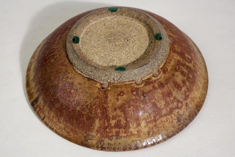 Modernist Karen Karnes Objects U.S.A. Studio Art Pottery Stoneware Bowl For Sale 4