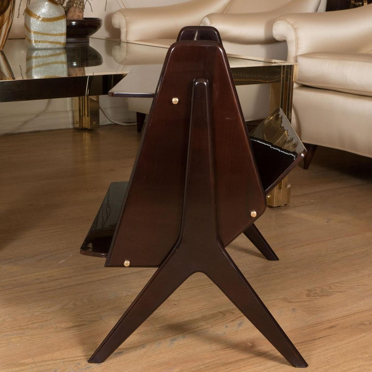 Mid-Century Modern Modernist Lacquered Wood End Table For Sale