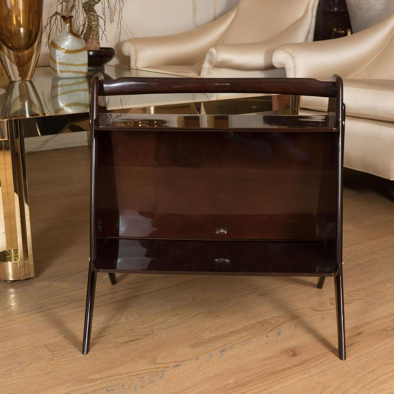 Italian Modernist Lacquered Wood End Table For Sale