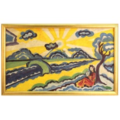 Modernist Landscape Painting Attributed to Hugo Scheiber