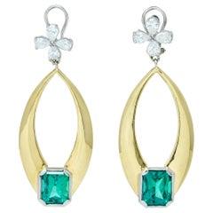 1940s Dangle Earrings