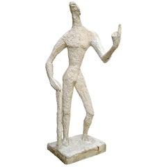 Modernist Large Plaster Sculpture by Jeannine Nathan