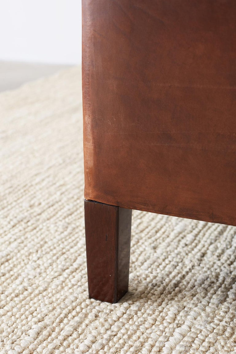 Modernist Leather Three-Seat Case Sofa 3