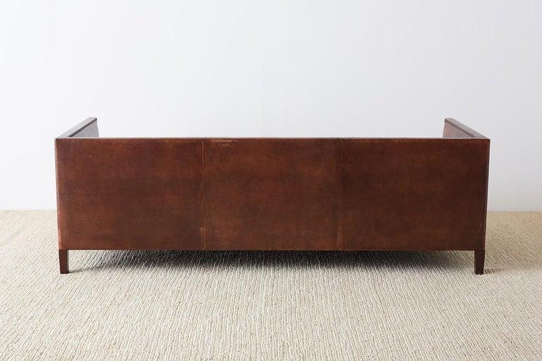Modernist Leather Three-Seat Case Sofa 2