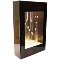 Modernist Light Box with Sculptural Interior, Signed Briglio