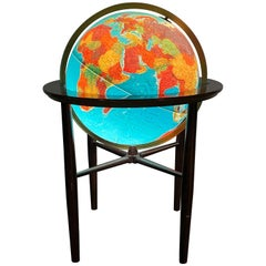 Modernist Lighted World Globe on Stand Illuminated, Scan Globe a/s Denmark
