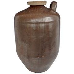 Modernist Little Brown Jug Ceramic Floor Vase